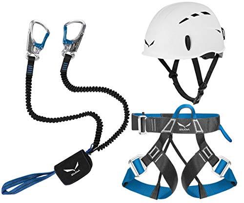 Salewa - Set per arrampicata Premium Attac, con cintura Ferrata Lite e caschetto Toxo