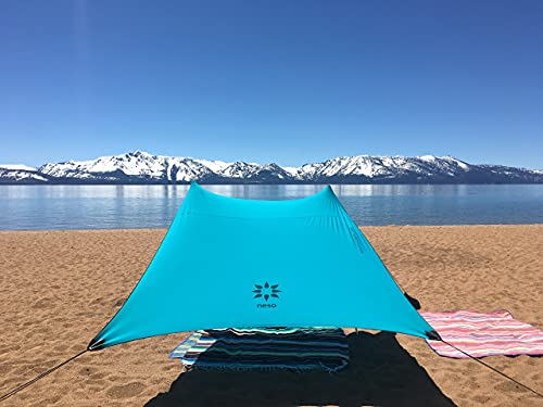 Neso Tenda da Spiaggia Tents con Ancoraggio a Sabbia, Parasole Portatile - 2.1m x 2.1m - Angoli rinforzati brevettati (Teal)
