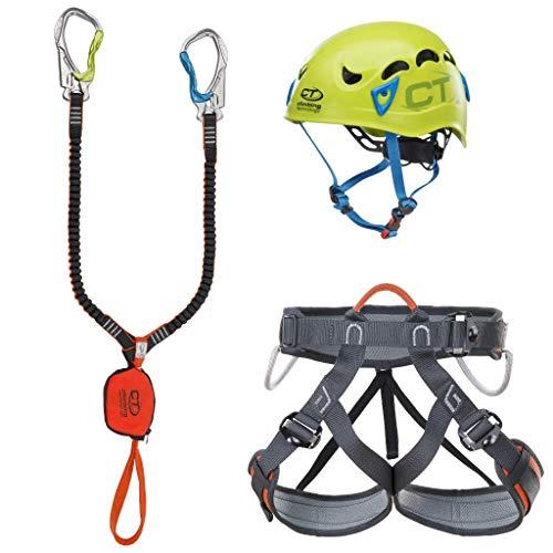 Climbing Technology Kit FERRATA Premium Galaxy, Set Unisex Adulto, Multicolore, Taglia Unica