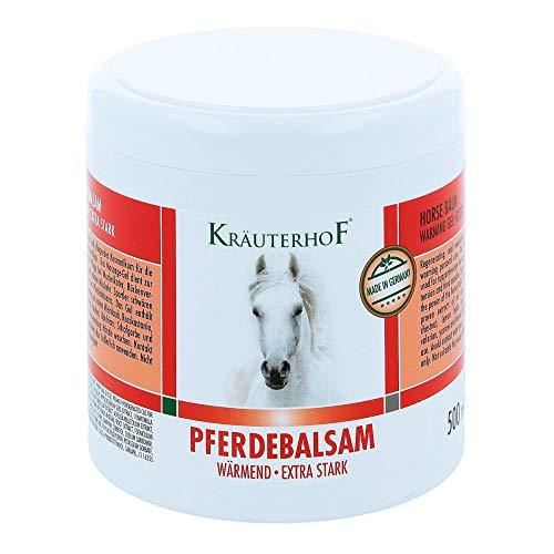 Kräuterhof Balsamo per cavalli riscaldante, extra forte, 500 ml, gel massaggiante