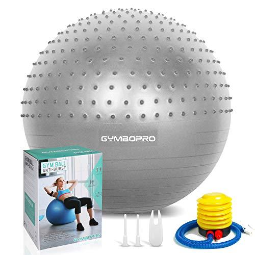 Palla da ginnastica/Palla Fitness,yoga palla equilibrio per fitness pilates palestra di yoga(65 cm,Argento)