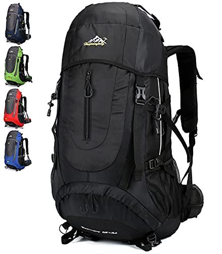 Doshwin 70L Zaino da Escursionismo Trekking Campeggio Viaggio Grande per Uomo Donna (Nero)