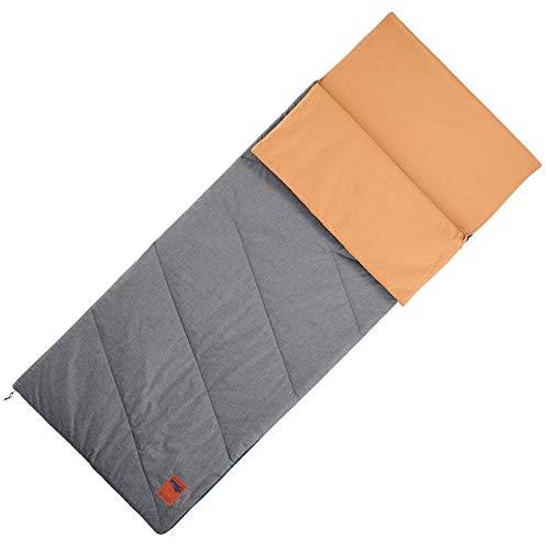 FORCLAZ Sacco a pelo in cotone per campeggio - Arpenaz 20° cotone nocciola taglia unica