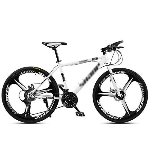 NA ZGGYA Bici da Uomo, Telaio in Acciaio al Carbonio Spesso, Nero, Ruote da 3 taglierine, 27 velocità, Bici Rigida con Sedile Regolabile, Bici Ibrida per Adulti