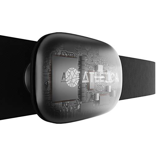 Atletica A5 Sport Cardiofrequenzimetro con Fascia Toracica, 5.3kHz, ANT+, Bluetooth 5.0, misurazione Accurata della Frequenza Cardiaca, Pulsazioni, Consumo Calorico. Compatibile orologi Garmin e Polar