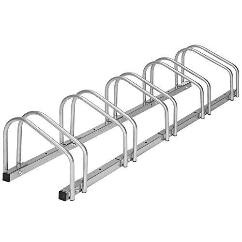 TecTake Rastrelliera portabici per Biciclette   Metallo Rivestito - Modelli Differenti - (per 5 Biciclette   402379)