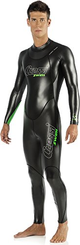 Cressi Triton All In One Swim Wetsuit 1.5mm, Muta Monopezzo da Nuoto, Neoprene Alta Densita, Glide Skin da 1.5 mm, Uomo, 2XL, Nero