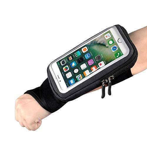 Fascia da Braccio Porta Cellulare Telefono pollice braccialetto Sweatproof Bracciale per Corsa Esercizi per iPhone 12 Pro/12/11/11 Pro Max Galaxy S9/S8,Huawei, ASUS, LG, Motorola fino a 6.5 Pollici