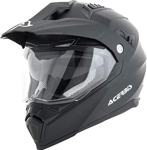 Acerbis 0022310.091.064 Casco Flip Fs-606 Nero 2, Helmet Uomo, M