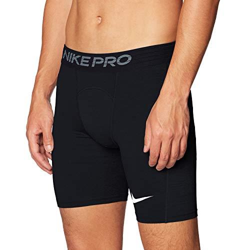 Nike PRO, Pantaloncini Uomo, Nero (Black/White), M