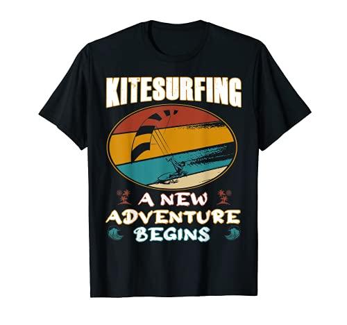 Una nuova avventura Accessori Kitesurf Retro Kite Surfing Maglietta