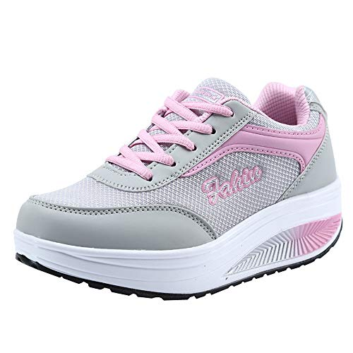 Modaworld scarpe Sportive Sneaker da Donna,Moda Donne Maglia intensificare Scarpe Soft Bottom Dondolo Scarpe Sneakers