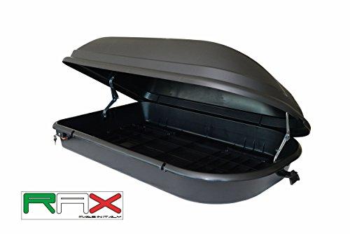RAX Diamond 340 Box Portabagagli, Portata massima 60 kg, Nero, 131 x 43 x 78 cm