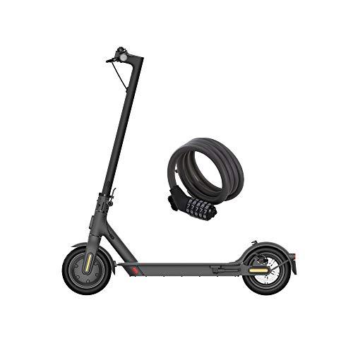 Xiaomi Mi Electric Scooter Essential, Monopattino Elettrico, Versione Amazon con Lucchetto Incluso, 20 Km di Autonomia, Velocità fino a 20 Km/h, Sistema KERS e freni a disco, Nero, Versione Italiana