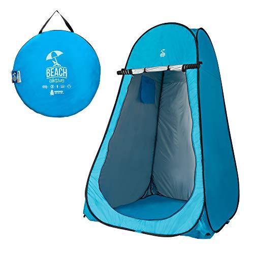 AKTIVE 62163, Tenda da Campeggio con Pavimento 120 x 120 x 190 cm Blu Unisex-Adulto, Turchese