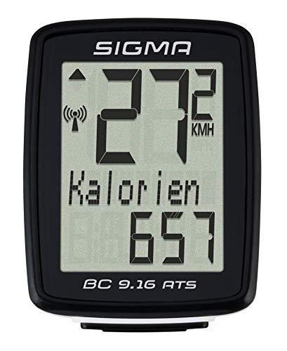 Sigma Bicicletta Computer BC 9.16 ATS, Nero