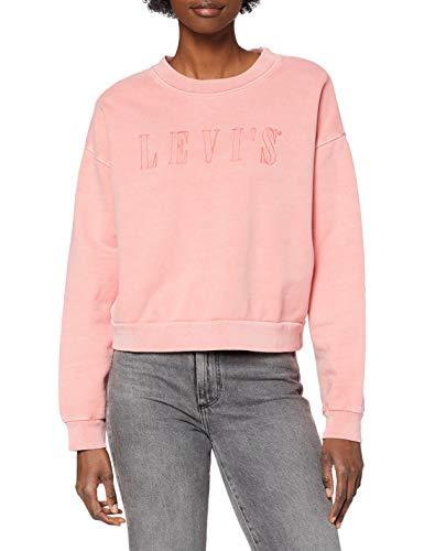 Levi's Graphic Diana Crew Maglia di Tuta, Serif Outline Garment Dye Blush, M Donna