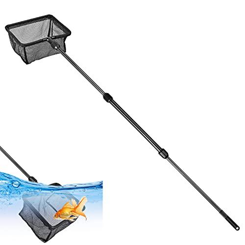 Pinsheng Guadino da Pesca, Guadino da Pesca telescopico in Nylon per Acquario da 90 cm, Retino da Pesca Pieghevole Estensibile per Acquario Laghetti Laghi (S)