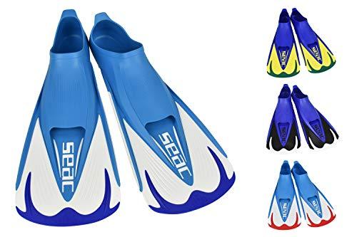 SEAC Team, Pinna Corte per Nuoto in Piscina e Snorkeling Unisex Adulto, Blu, 40/41 EU