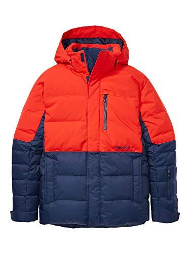 Marmot Shadow Jacket Piumino Da Neve, Densità Dell'imbottitura 700, Abbigliamento Da Sci E Snowboard, Antivento, Impermeabile, Traspirante, Uomo, Arctic Navy/Victory Red, XL