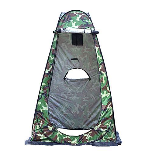 BaBa Tenda per Spogliatoio Portatile All'aperto, Tenda ad Apertura Istantanea Pop-Up Campeggio Bagno, Tenda Fasciatoio da Campeggio con Pavimento, Tenda Mobile per Toilette (Camuffare)