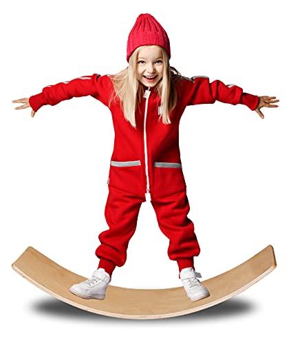 Yihome Balance Board Fatta di sostenibile in Legno di faggio-proprioceptive di Formazione, Fisioterapia Wobble Board per i Bambini e Gli Adulti