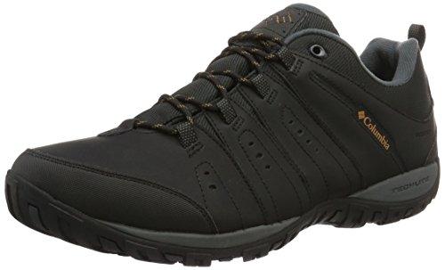 Columbia Woodburn II Waterproof, Scarpe da Nordic Walking Uomo, Nero (Black, Caramel) 010, 44 EU