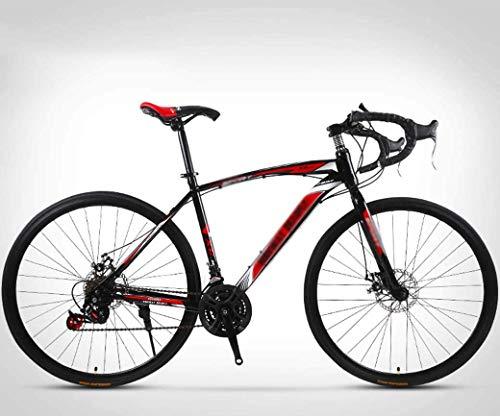 NA ZGGYA Bici Ibrida per Adulti, Freni a Disco a Doppio Disco, Telaio in Acciaio ad Alta Carbonio, Bici da 26 Pollici, Bicicletta a 24 velocità, Road Bici da Corsa, Mountain Bike