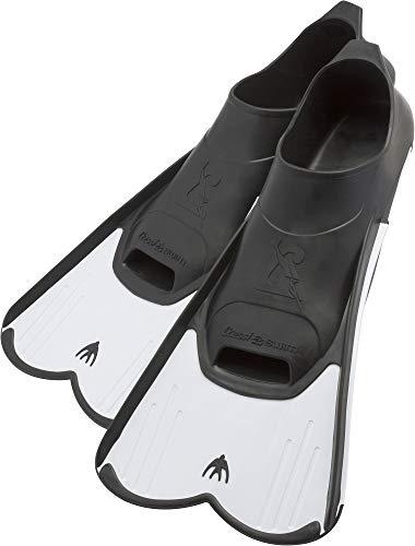Cressi Light Fins, Pinne Corte Leggere e Potenti per Nuoto/Snorkeling Adulti e Bambini Unisex, Bianco/Nero, 39/40 EU
