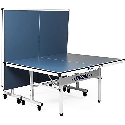 Dione Tavolo da Tennis S400i - 16 mm Top - Indoor Pieghevole - Tavolo da Ping Pong Arrotolabile per Esterni - Tavolo Tennis 70kg - 10 Minuti di Installazione