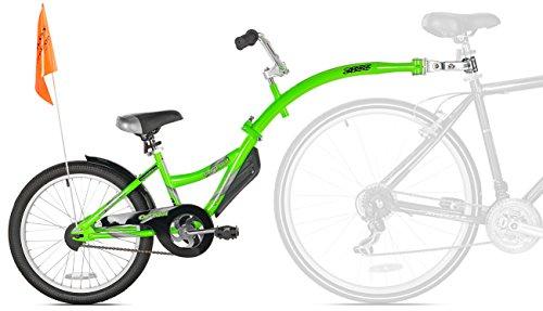 Weeride - Tagalong Copilota, Bicicletta a rimorchio per Bambini, 50,8cm, Colore: Verde