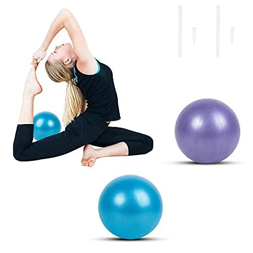 DEARLIVES Palla Fitness per Pilates,2 Pezzi Palle da Ginnastica 23-25cm,Palla Pilates Piccola Ginnastica per Esercizi Palestra,Fitness,Yoga,Equilibrio(Blu e Viola)