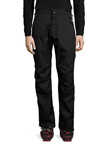 Ultrasport Basic Pantaloni di protezione da uomo outdoor Chris, pantaloni da sci di fondo da uomo, pantaloni da neve, pantaloni da pioggia, 100% poliestere, nero, XL
