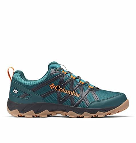 Columbia Peakfreak X2 Outdry, Scarpe da Trekking, Uomo, 47 EU, Verde (Dark Seas, Persimmon)