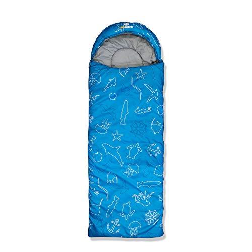 outdoorer Dream Express Ocean - Sacco a pelo per bambini, in cotone, motivo: animali marini