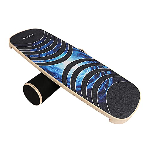 Best Goods Improve Your Skills Balance Board Wobble Board Wood Diameter 40 cm Balance Board Professional for Exercise, Gym, Sport Performance Enhancement, Rehab, Training
