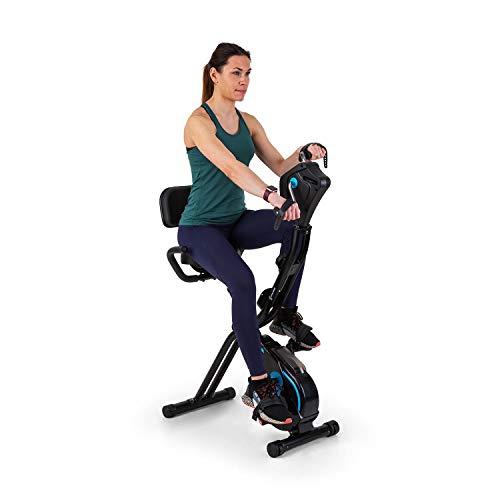 Capital Sports Azura - Full Body Comfort, X-Bike/Cyclette Mani e Piedi, Cardiotrainer, Cardio-Bike, Volano: 7,5 kg, MagResist: Resistenza Magnetica (8 Livelli), Nero