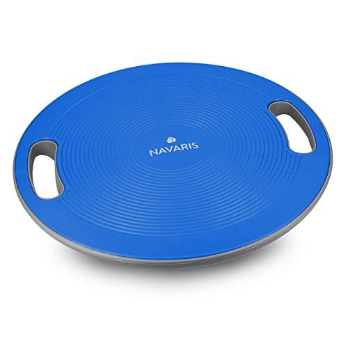 Navaris Pedana Propriocettiva Balance Board - Pedana per Esercizi Equilibrio Tavoletta per Propriocettività Tavola Fitness Ø 40cm - Blu