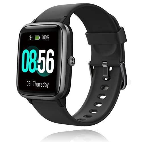 Jogfit Smartwatch Orologio Fitness Donna Uomo Cronometro, Smart Watch GPS Fitness Tracker Impermeabile IP68 Cardiofrequenzimetro da Polso ECG Sveglia, Activity Tracker Sport Contapassi Bambini