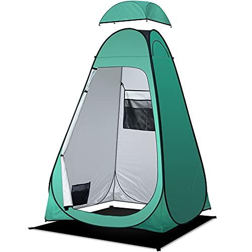 Riggoo - Tenda per WC da campeggio, tenda per doccia, tenda per spogliatoio, spiaggia, pesca, escursionismo, portatile per WC (protezione UV, copertura antipioggia rimovibile)