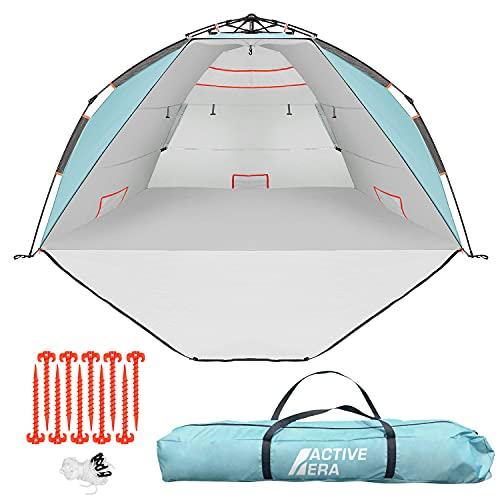 Active Era Tenda da Spiaggia di Lusso - Tenda da Sole per 3-4 Persone con Tecnologia Easy Pitch e Protezione Solare UPF 50+ - Pop-Up e Leggera