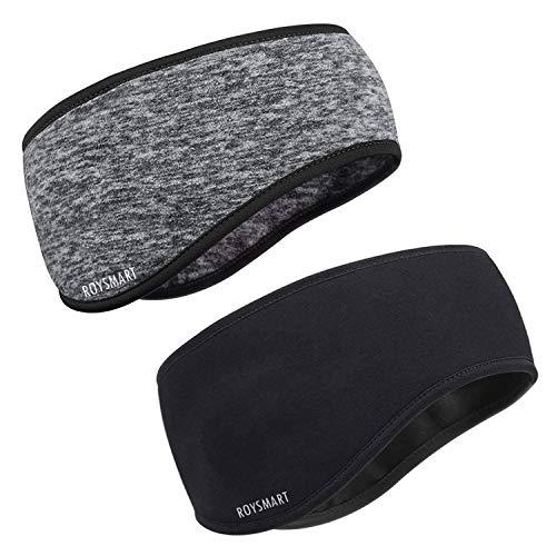 Fascia per Capelli Invernale, Roysmart Headband Sport Fascia Paraorecchie Fascia Elastica per Running, Sciare, Uomo, Donna - 2 Pezzi