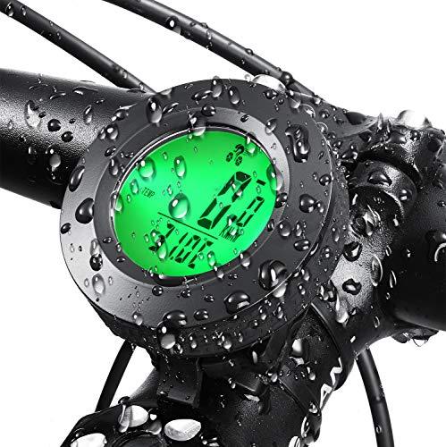 GUUVOR Contachilometri Bici,Contachilometri Bici Senza Fili,Computer da Bicicletta,Multifunzione Contachilometri da Bicicletta Senza Fili Computer con Sensore di Movimento,Contachilometri