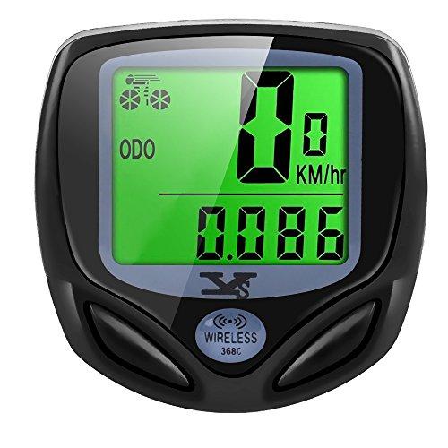 DINOKA Contachilometri Bici Senza Fili,YS Computer di Bicicletta,Impermeabile Bici Computer per Tachimetro Bici Wireless Ciclocomputer con Display Retroilluminato,la Distanza di Tracciamento,velocità