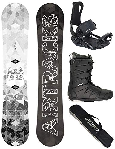 Airtracks Snowboard Set - TAVOLA Akasha Wide 162 - ATTACCHI Master - Softboots Star Black 46 - SB Bag