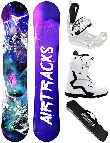 Airtracks - Set completo da Snowboard per donna: tavola Graffiti Lady Rocker + Attacchi Snowboard Star W + Scarponi + Borsa, Donna, Boots Star W 38