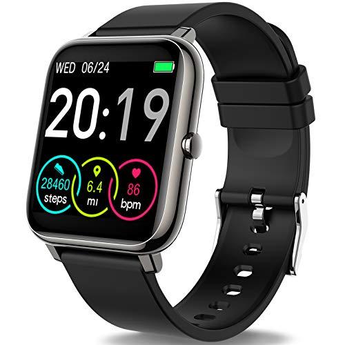 Rinsmola Smartwatch Orologio Fitness Uomo Donna Smart Watch 1,4'' Full Touch Contapassi Cardiofrequenzimetro, Sportivo Activity Tracker Cronometro, Notifiche Messaggi, Controller Fotocamera Musicale