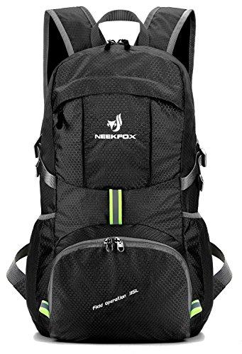 NEEKFOX Zaino Zainetto da Trekking Leggero e Compatto da Viaggio, Zaino da Campeggio Pieghevole da 35L, Zaino Ultraleggero per Sport all'Aperto