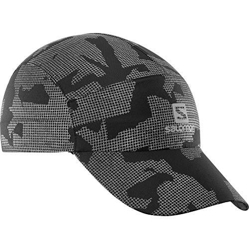 Salomon Anti-UV Reflective Cap, Cappellino per Allenamenti, Unisex Adulto, Grigio (Reflective)/Nero, OSFA