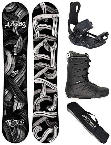 Airtracks Snowboard Set - TAVOLA Twisted Wide 150 - ATTACCHI Master - Softboots Star Black 42 - SB Bag